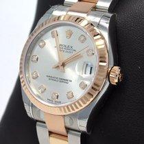Rolex Datejust 31mm 178271 Oyster 18k Rose Gold /ss Diamond...