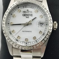 Helvetia new Automatic Gemstones and/or diamonds 35mm White gold