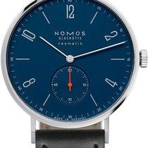 NOMOS Tangente Neomatik Stal 38.5mm Niebieski Arabskie