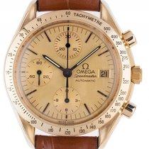 Omega Speedmaster 18kt Gelbgold Automatik Chronograph Armband...