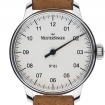 Meistersinger N° 01 Steel 43mm Mother of pearl Arabic numerals