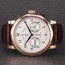 A. Lange & Söhne Rose gold Manual winding Silver (solid) 39.5mm pre-owned 1815