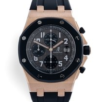 Audemars Piguet Rose gold Automatic Grey 42mm pre-owned Royal Oak Offshore Chronograph