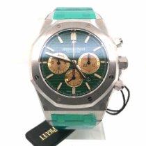愛彼 Royal Oak Chronograph 鉑 41mm 綠色 無數字