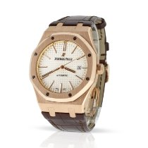 Audemars Piguet Or rouge Remontage automatique Blanc Sans chiffres 41mm occasion Royal Oak Selfwinding