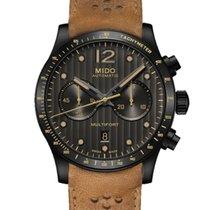 Mido Multifort Chronograph Acier 44mm Gris Sans chiffres