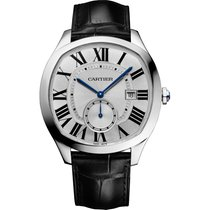Cartier Drive de Cartier 40mm Steel Watch on Leather Strap