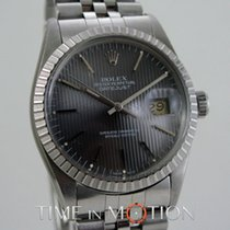 Rolex Oyster Perpetual Datejust 16030  Plexi Gray dial + Pouch