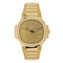 Patek Philippe Nautilus Ladies Rose Gold  35mm Diamond Bezel...