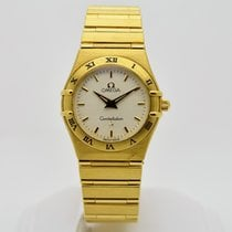 Omega Constellation Quartz pre-owned 26mm White Yellow gold