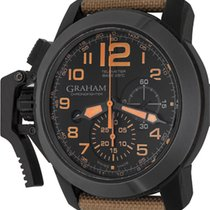 Graham Chronograph 47mm Automatic pre-owned Chronofighter (Submodel) Black