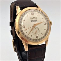 Marvin Roségoud 38mm Handopwind Marvin Vintage AutoDate Triple Date or rose 18kts tweedehands