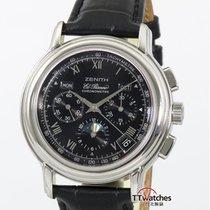 真力时 計時碼錶 40mm 自動發條 二手 El Primero Chronomaster 黑色