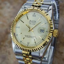 Elgin pre-owned Quartz 36mm Gold Mineral Glass