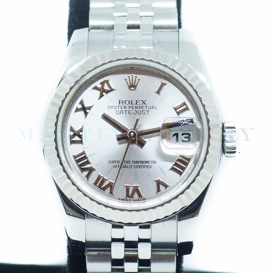 Datejust Ladies Ref179174 Oyster Rolex Perpetual wn0PX8Ok