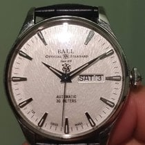 Ball Trainmaster Eternity Steel 40mm White No numerals