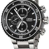 Oris ProDiver Chronograph 01 774 7727 7154-Set new