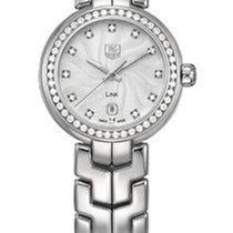 TAG Heuer Link Lady WAT1414.BA0954 - TAGHEUER  STEEL WATCH, DIAMONDS DIAL,BEZEL new