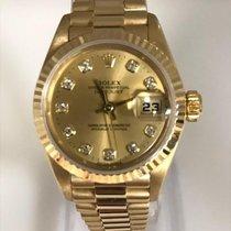 Rolex Lady-Datejust Gult guld 26mm Champagnefarvet