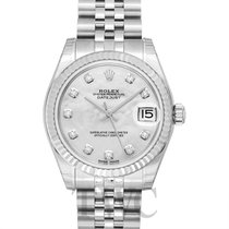 Rolex White gold Automatic White 31.00mm new Lady-Datejust