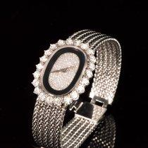 Vacheron Constantin 1980s 18k WG Diamond Onyx Tuxedo Dial
