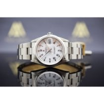 Rolex Oyster Perpetual Date Acier 34mm Blanc