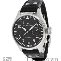 IWC Big Pilot pre-owned 46mm Black Date Fold clasp