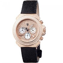 Lancaster Italy Pillo Deco Diamonds Chronograph Watch Rose...