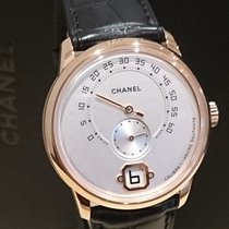 Chanel 40mm Handaufzug neu Silber
