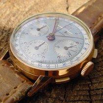 Leonidas Triple Date Chronograph V 72 Gold Pre Heuer
