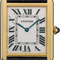 Cartier Tank Solo Gold/Steel 34.8mm Silver Roman numerals United States of America, New York, New York