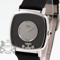 Chopard Damenuhr Happy Diamonds 32.5mm Handaufzug gebraucht Uhr mit Original-Box und Original-Papieren