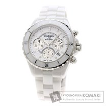 2e2ab1e76b4f Chanel シャネル H2009 J12/クロノグラフ/9Pダイヤモンド 腕時計 セラミック/セラミック メンズ.