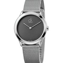 ck Calvin Klein Steel 35mm Quartz K3M2212X new