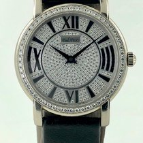 Paul Picot White gold Automatic Full Diamond pave pre-owned