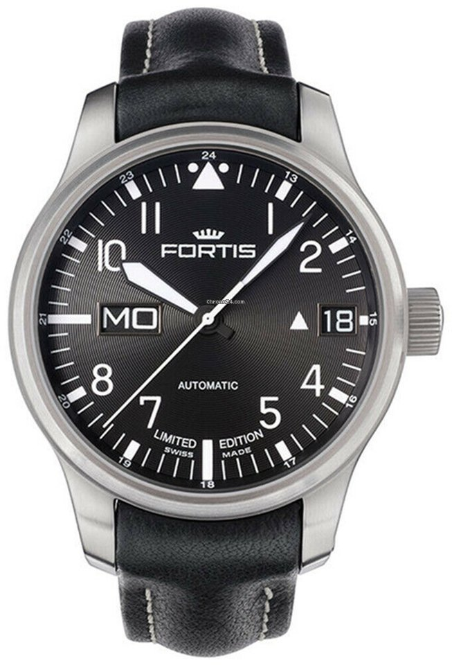 700 Flieger 01 F Mens Fortis Steel Watch Limited Edition 10 43 L 81 Automatic QeBdxErCoW