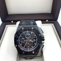 Audemars Piguet Carbon Automatic Black No numerals 44mm pre-owned Royal Oak Offshore Chronograph