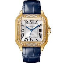 Cartier new Automatic 35.1mm Yellow gold Sapphire crystal