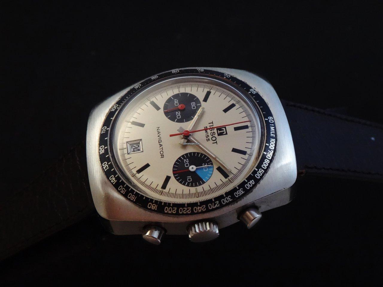 376517e62 Tissot Vintage Navigator Men's Chronograph 70's for $1,043 for sale ...
