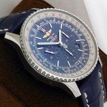 Breitling Navitimer01 46mm Auto Chrono Blue Dial and Strap...