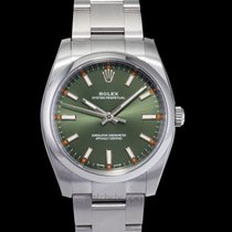 Rolex Oyster Perpetual 34 Steel 34mm Green United States of America, California, San Mateo