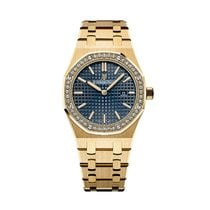 Audemars Piguet Royal Oak Lady Quartz Yellow Gold Blue Dial...