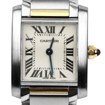 Cartier Ladies Cartier Tank Francaise 18K Two Tone Gold Steel...