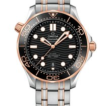 Omega Seamaster Diver 300 M Gold/Steel 42mm Black