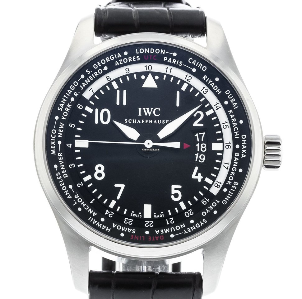 IWC Pilot Worldtimer IW3262-01 Watch with Leather Bracelet and... eladó 1  583 626 Ft Trusted Seller státuszú eladótól a Chrono24-en 5fb8392036
