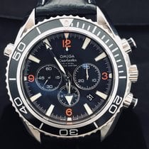 Omega Seamaster Planet Ocean Chronograph Stal 45mm Czarny Arabskie