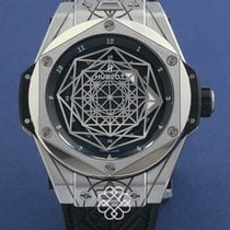 Hublot Automatic pre-owned Big Bang Sang Bleu