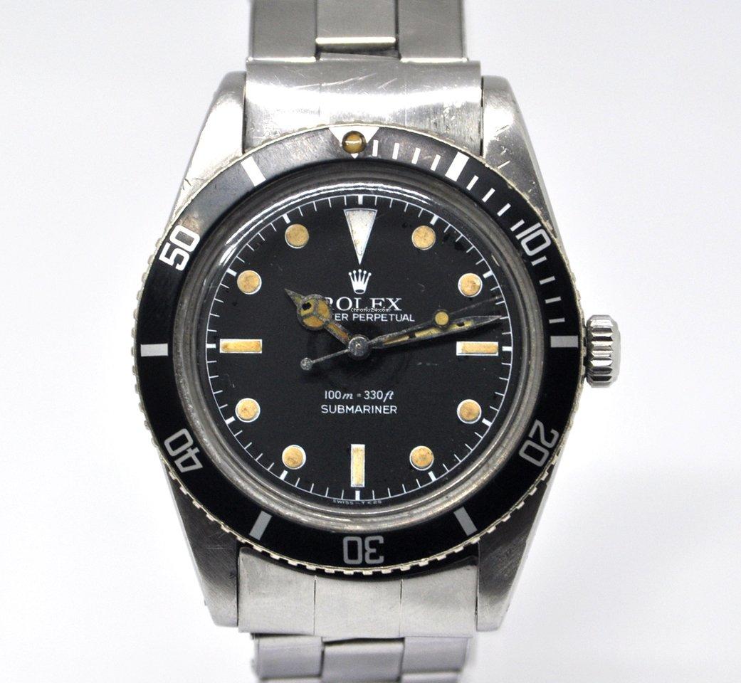 "Submariner Vintage 1959 Rolex 6536""james Bond"" TKc3l1FJ"