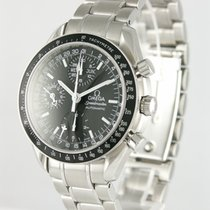 Omega Chronograph 38mm Automatic 2007 pre-owned Speedmaster Day Date Black