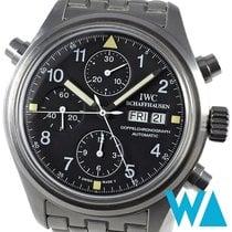 IWC Pilot Double Chronograph Staal 42mm Zwart Arabisch